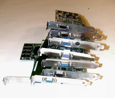 Assorted video cards (AGP 3.3V)